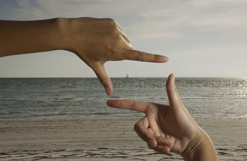 Praia perfeita da imagem foto de stock