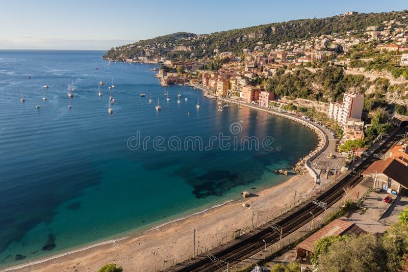 Praia perto de Mônaco imagens de stock royalty free
