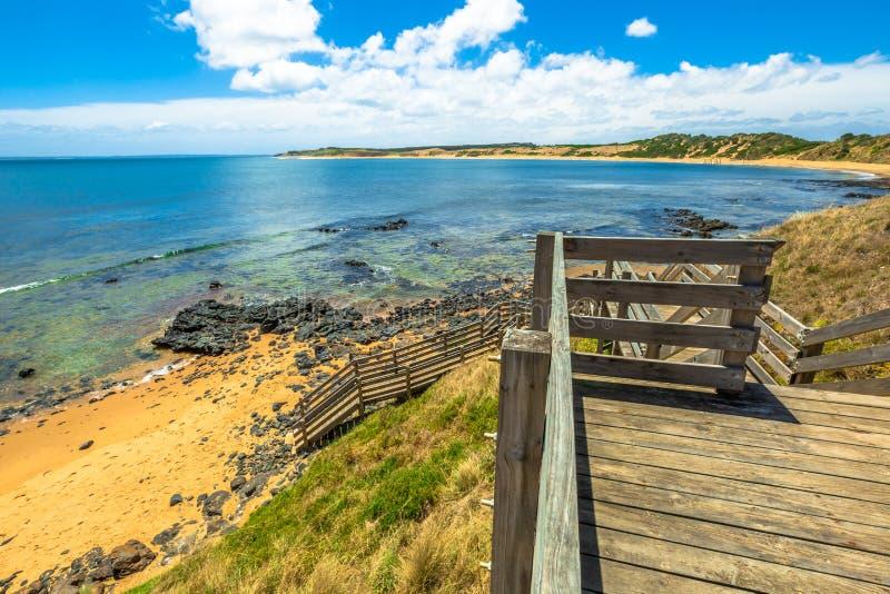 Praia Phillip Island de Flynns fotografia de stock royalty free
