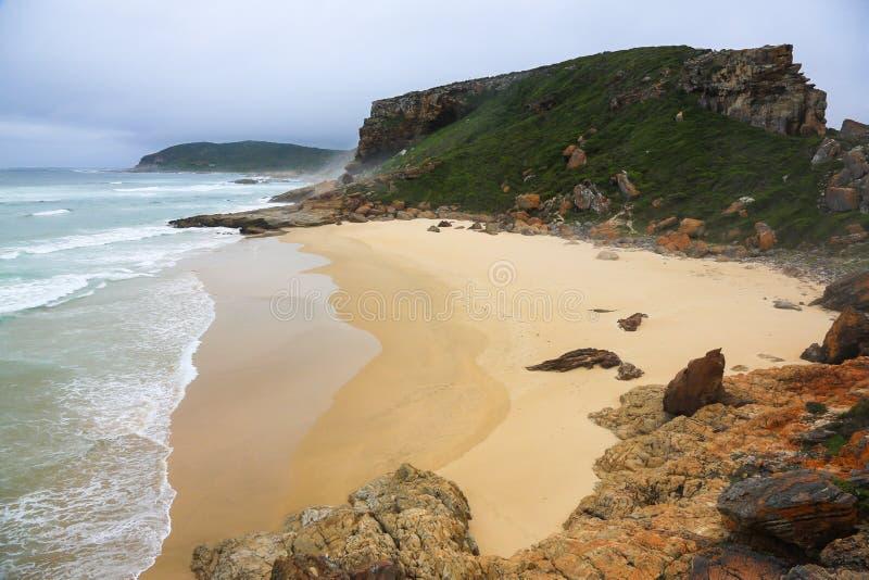 Praia Pristine em um sul - reserva litoral africana fotos de stock royalty free