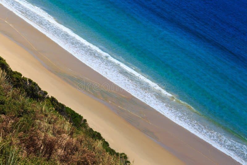 Praia Pristine na ilha de Bruny imagens de stock