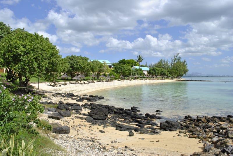 Praia privada, Maurícias, horas de verão foto de stock royalty free