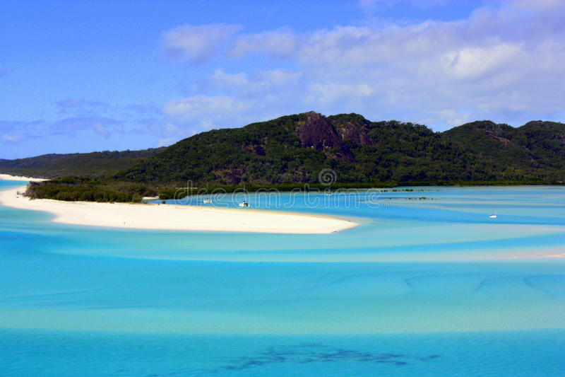 Praia Queensland Austrália de Whitehave fotos de stock