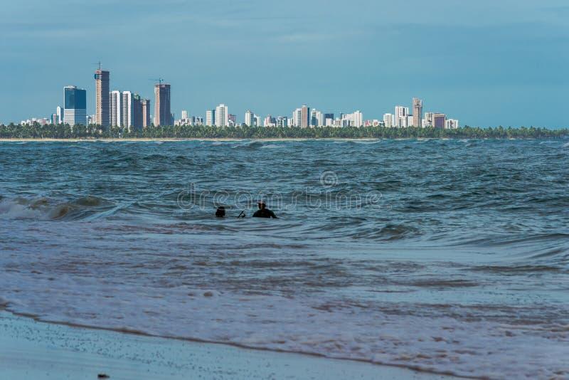 Praia robi Paiva Pernambuco, Brazylia, - zdjęcia stock