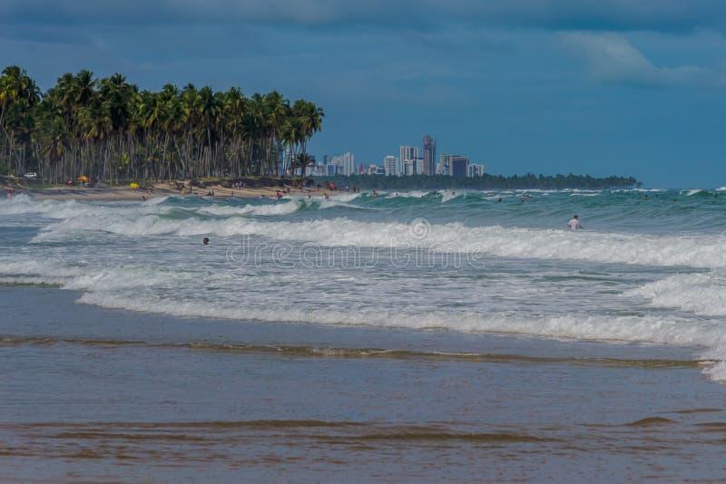 Praia robi Paiva Pernambuco, Brazylia, - zdjęcia royalty free