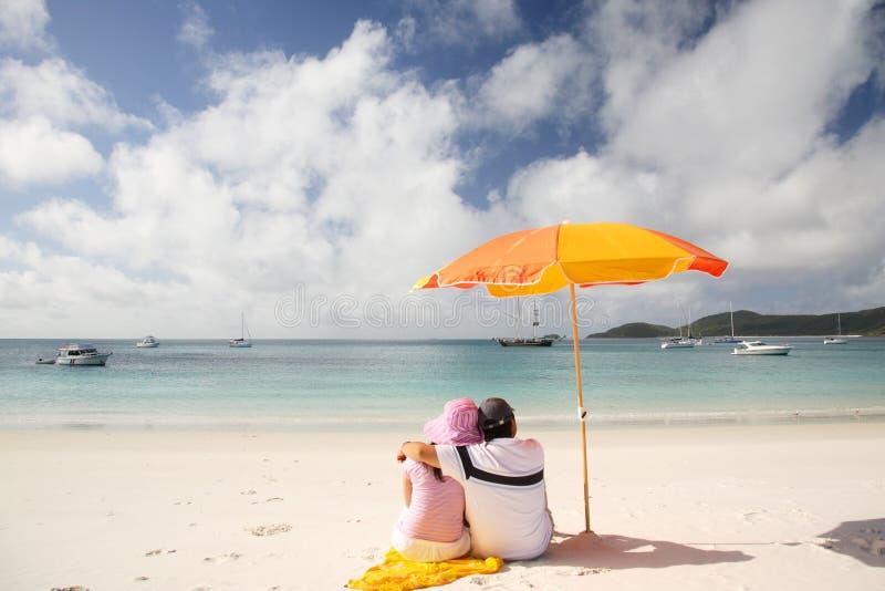 Praia romântica de Whitehaven foto de stock royalty free