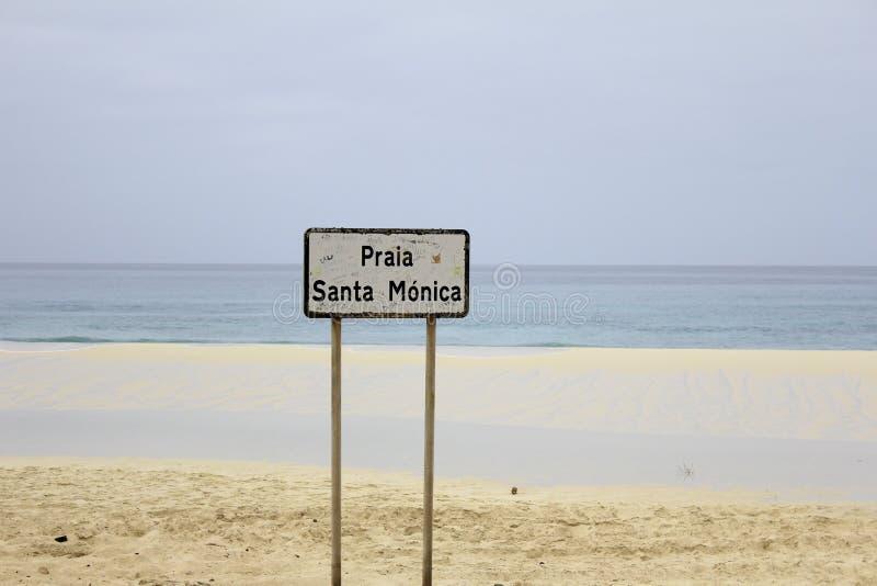 Praia Santa Monica fotografie stock libere da diritti