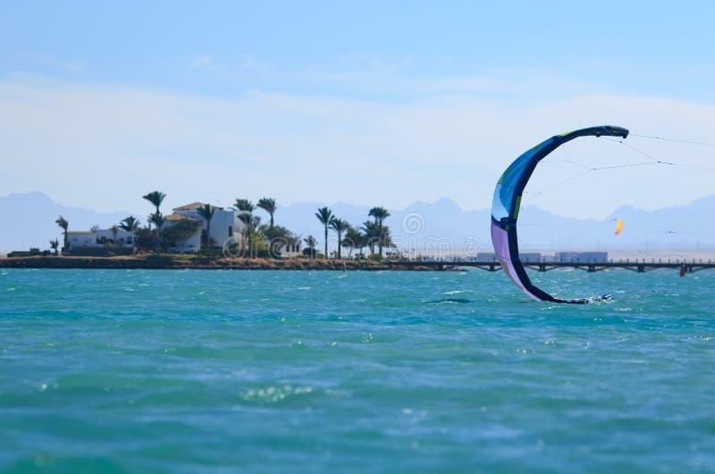 Praia selvagem bonita Opinião do mar, lagoa azul, Mar Vermelho, Egito, Hurghada Egito de exploração, lado sul litoral, ilhas desi imagens de stock