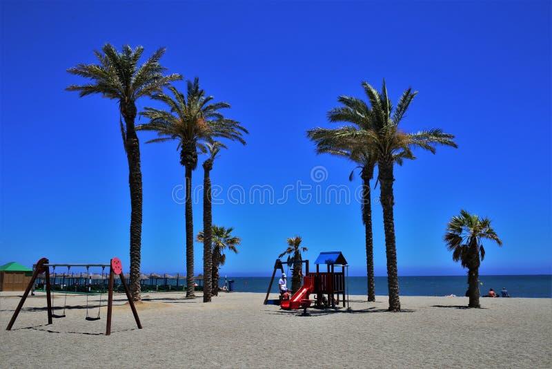 Praia Serena de Roquetas de março Almeria Andalusia Spain imagem de stock royalty free