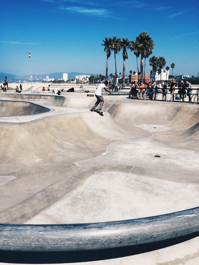 Praia Skatepark de Veneza foto de stock