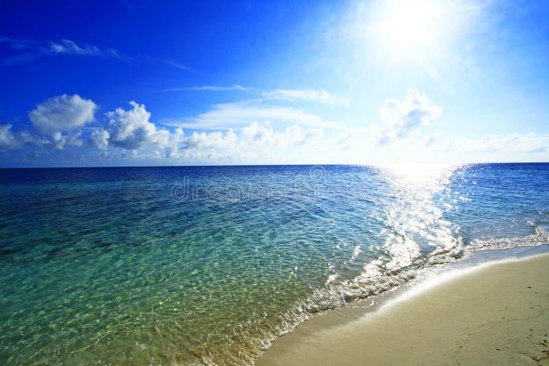 Praia sonhadora fotos de stock