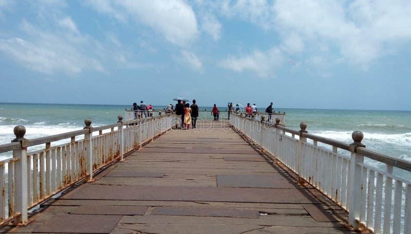Praia Sri Lanka de Galleface foto de stock royalty free
