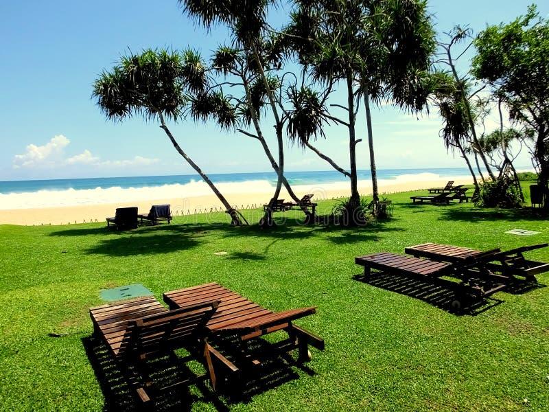 Praia Sri Lanka de Koggala imagem de stock