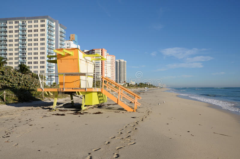 Praia sul de Miami fotos de stock royalty free