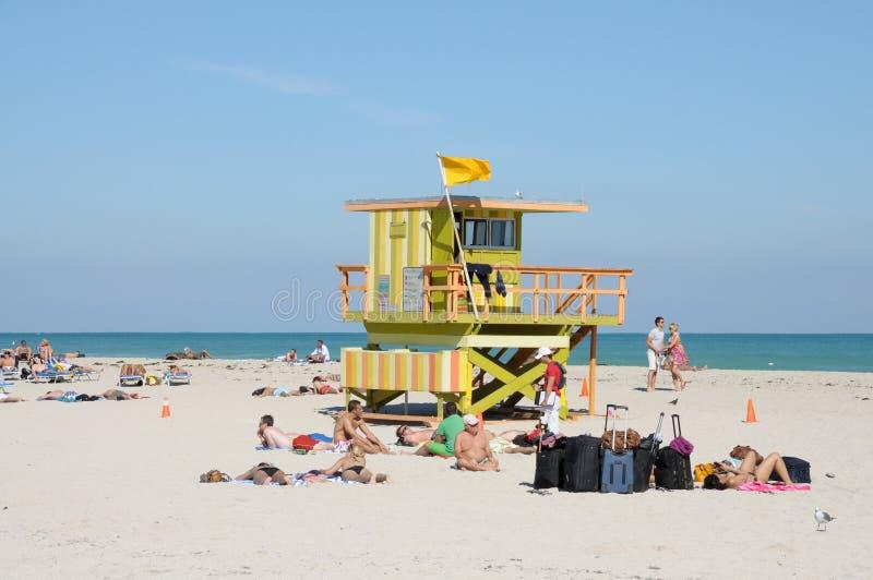 Praia sul de Miami imagens de stock royalty free