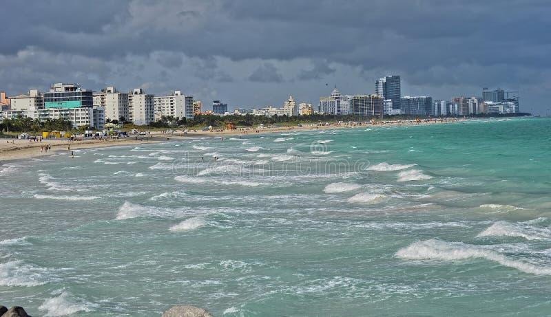 Praia sul de Miami imagens de stock