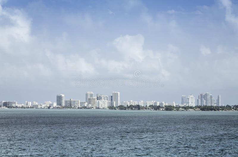 Praia sul de Miami em Florida imagem de stock royalty free
