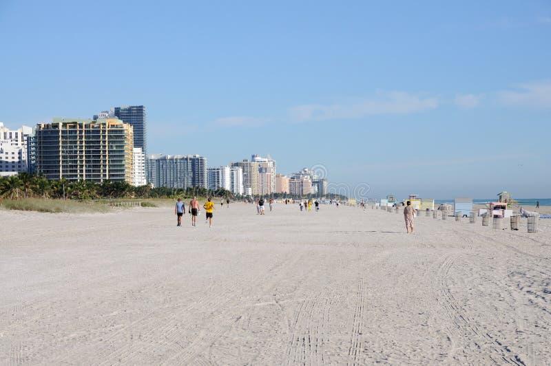 Praia sul de Miami, Florida fotos de stock royalty free