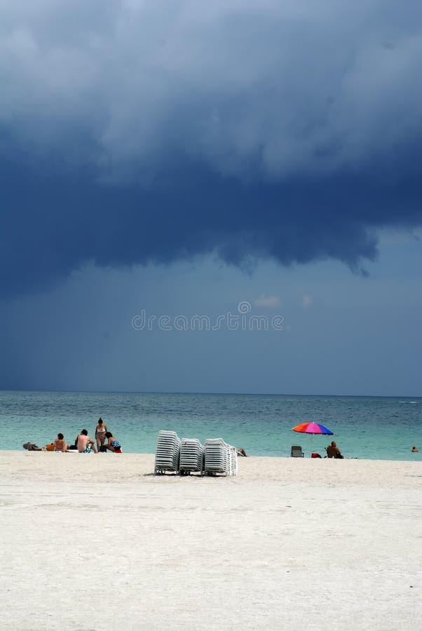 Praia sul em Miami Florida imagem de stock