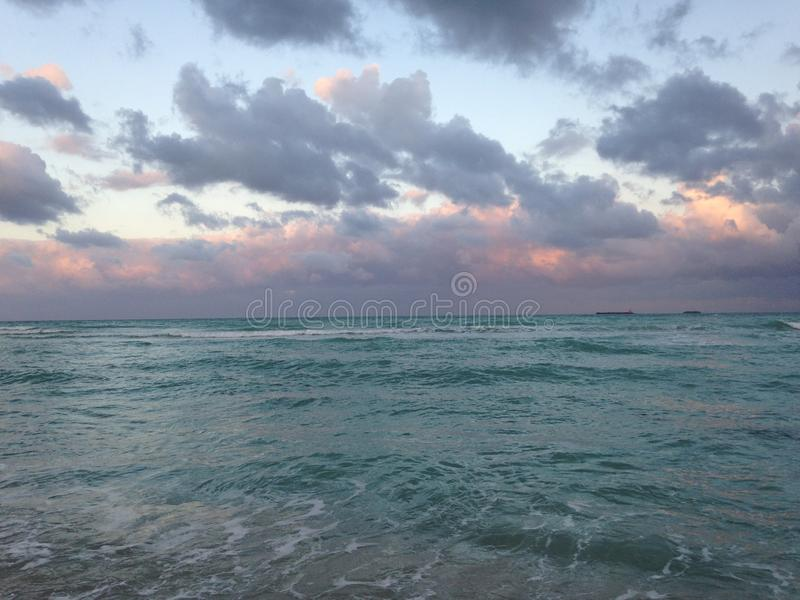 Praia sul em Miami, Florida fotografia de stock royalty free