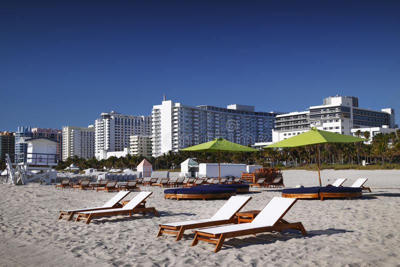 Praia sul, Miami fotografia de stock