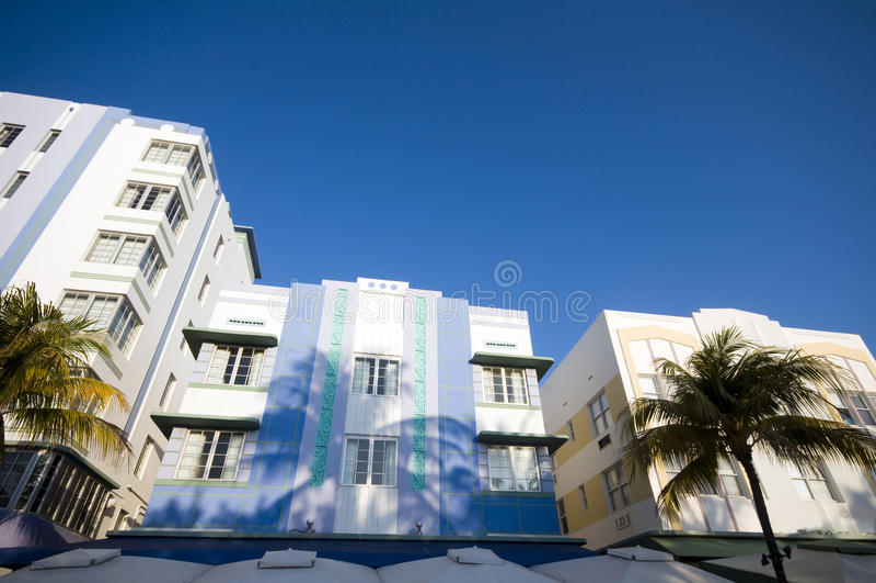 praia sul miami da arquitetura do art deco foto de stock royalty free
