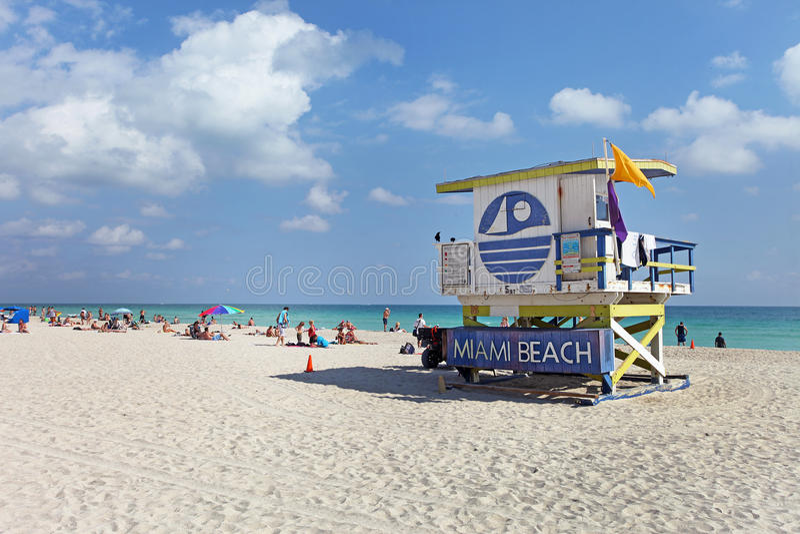 Praia sul Miami, Florida imagem de stock