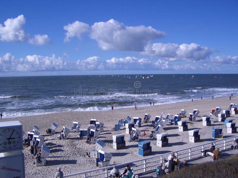 Praia Sylt imagem de stock royalty free