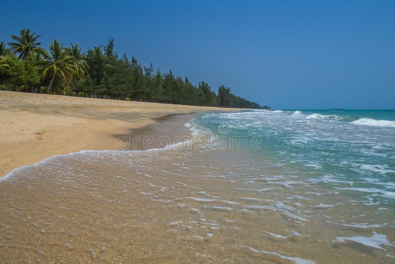 Praia Tailândia de Krut da proibição fotos de stock