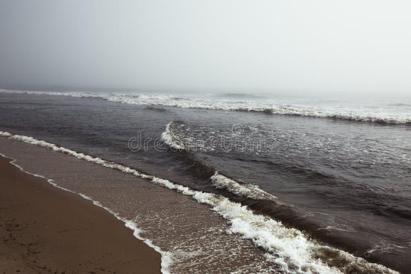 Praia temperamental em Wellfleet, miliampère Cape Cod imagem de stock