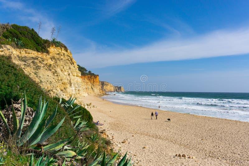 Praia tranquilla de Oporto de Mos di scena della spiaggia fotografie stock libere da diritti