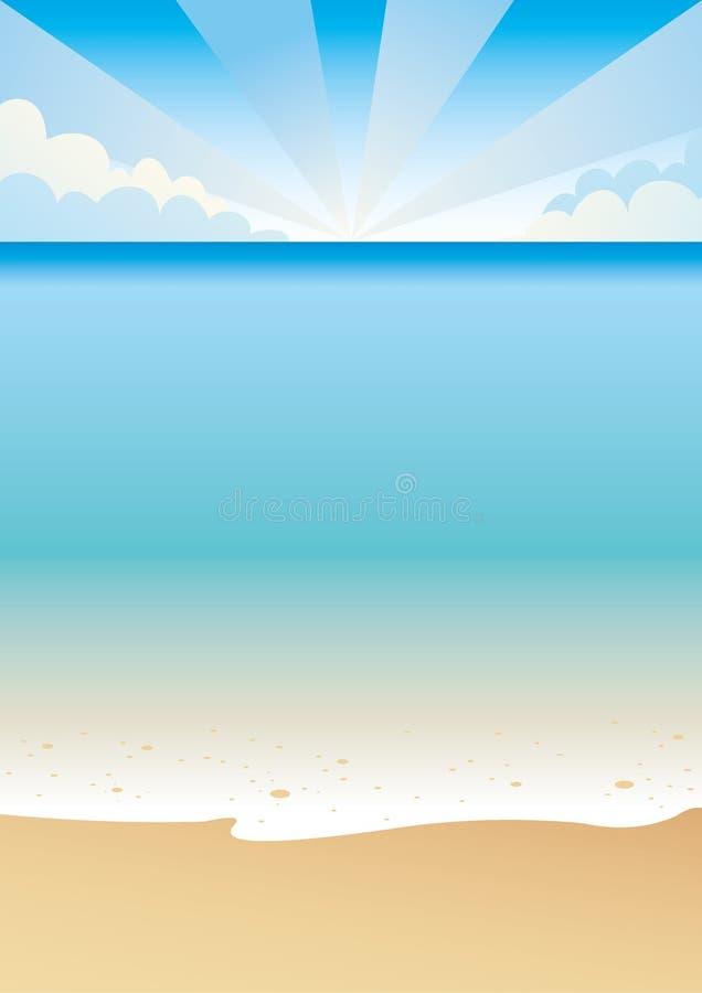 Praia tropical ilustração do vetor