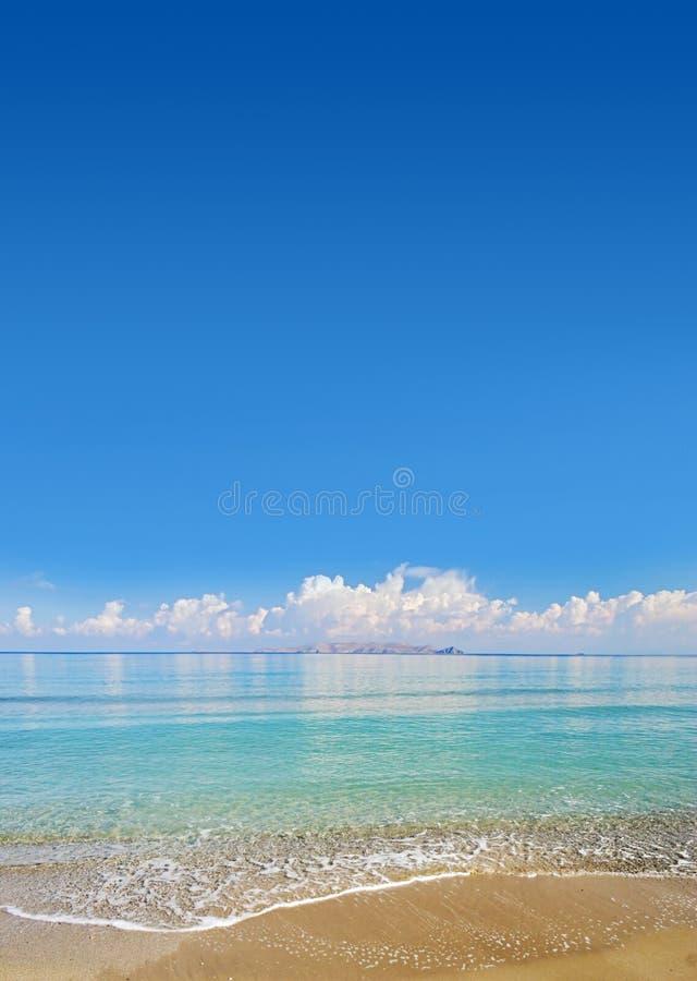 Praia tropical foto de stock royalty free