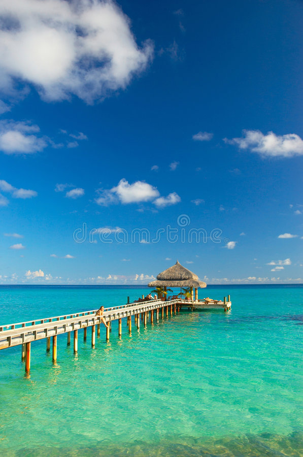 Praia tropical fotografia de stock royalty free