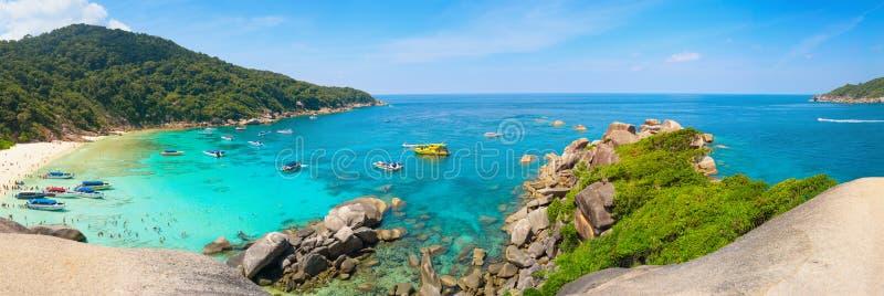 Praia tropical bonita das ilhas de Similan em Tailândia imagem de stock royalty free
