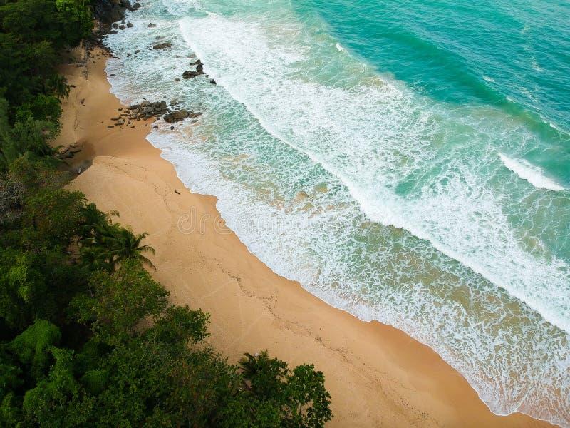 Praia tropical de cima de fotos de stock