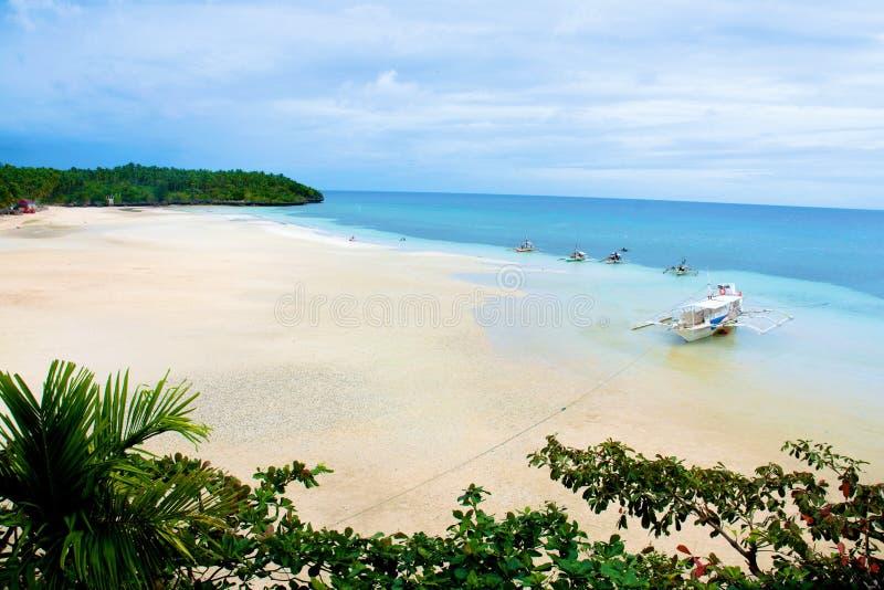 Praia tropical de Filipinas fotos de stock