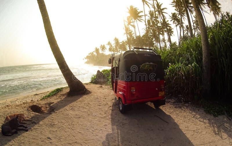 Praia tropical em Sri Lanka fotos de stock