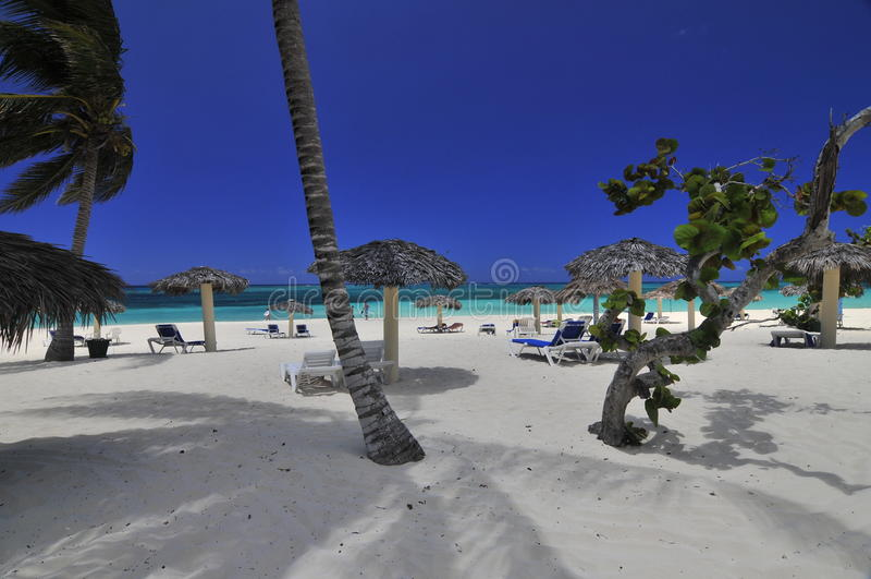 Praia tropical idílico foto de stock