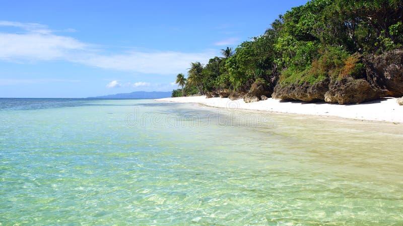 Praia tropical, ilha de Bohol, Filipinas imagens de stock royalty free