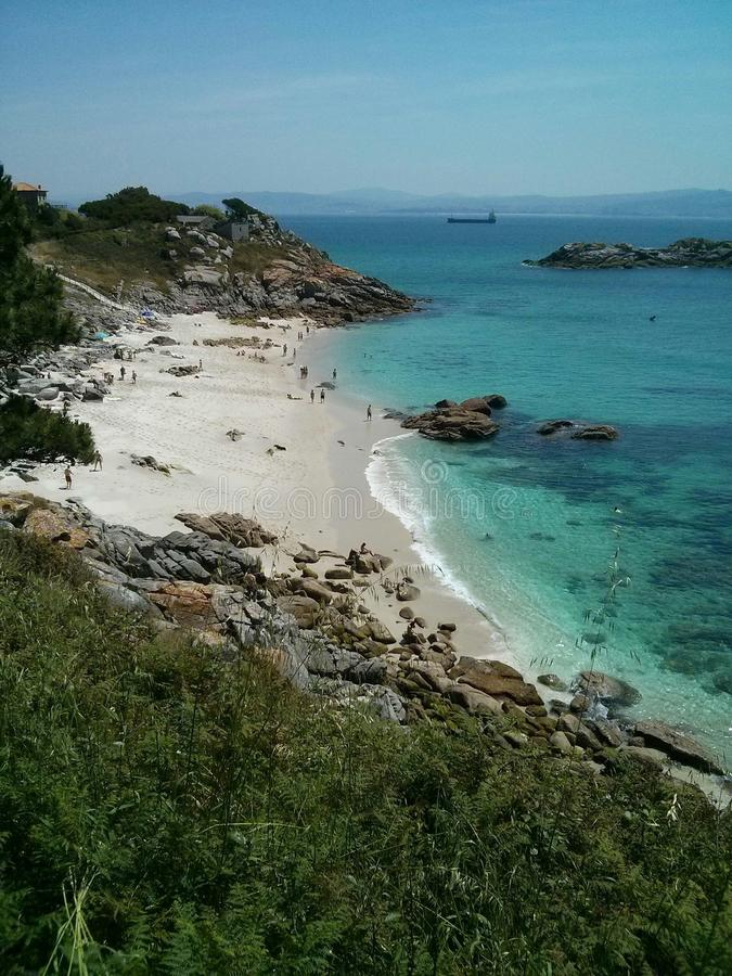Praia tropical - Langkawi imagem de stock
