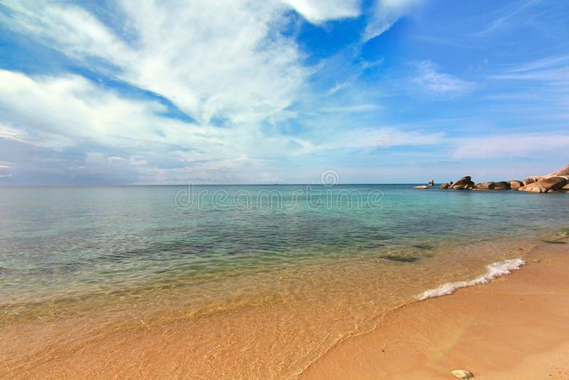 Praia tropical - Langkawi Koh Samui, Tailândia foto de stock royalty free