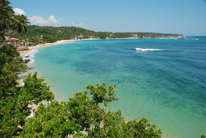 Praia tropical - louro de Unawatuna imagens de stock royalty free