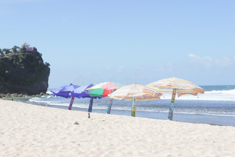 Praia tunggal de Pok no centro de java imagens de stock royalty free