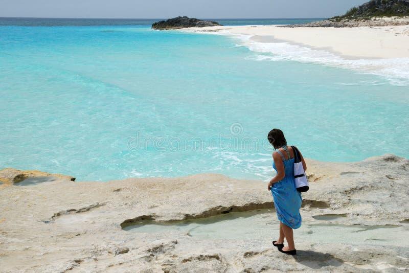 Praia Unspoiled fotos de stock royalty free