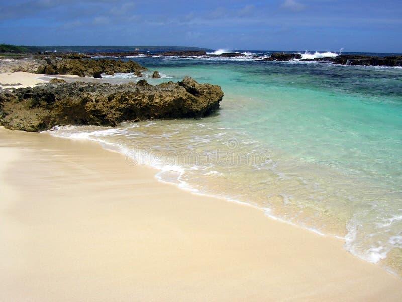 Praia Unspoiled do Tong remoto foto de stock