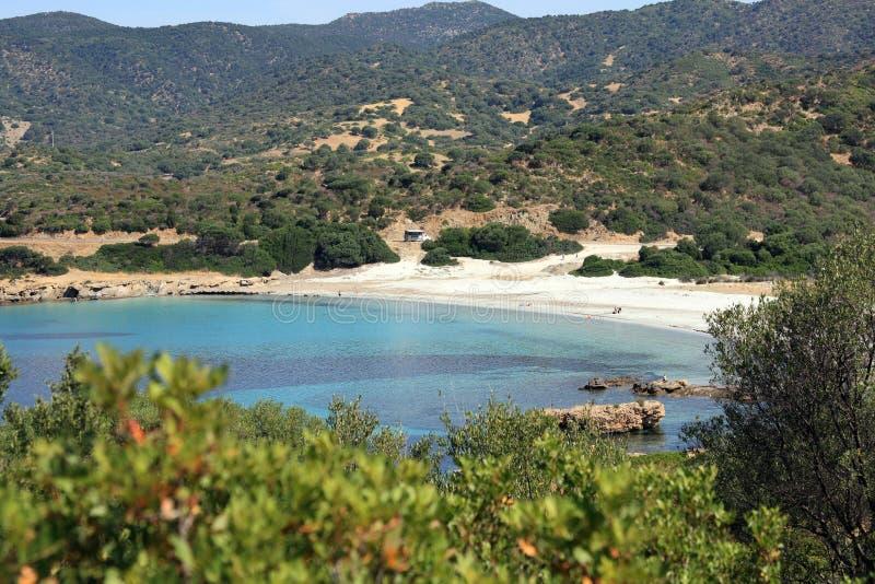 Praia Unspoiled em Sardinia foto de stock