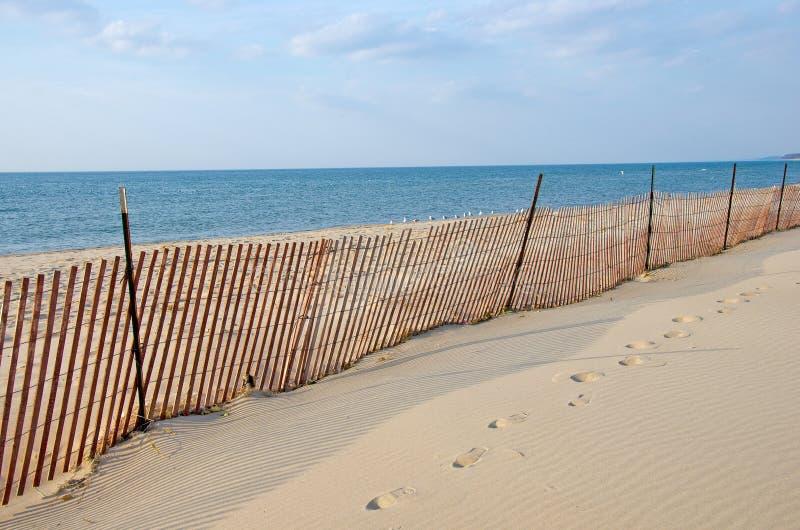 Praia vaga do Lago Michigan imagens de stock
