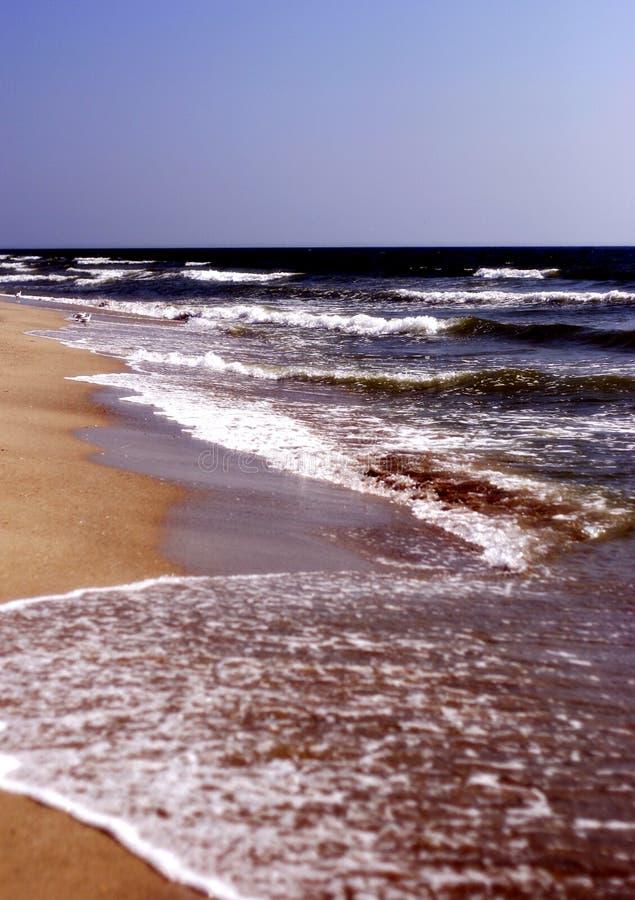 Praia vazia foto de stock