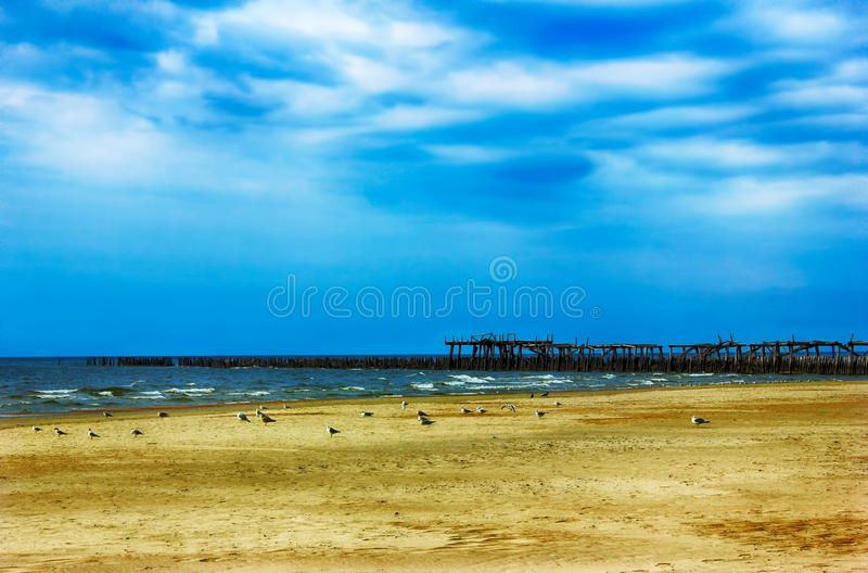 Praia vazia imagens de stock